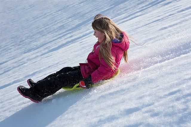 jízda na sněhu
